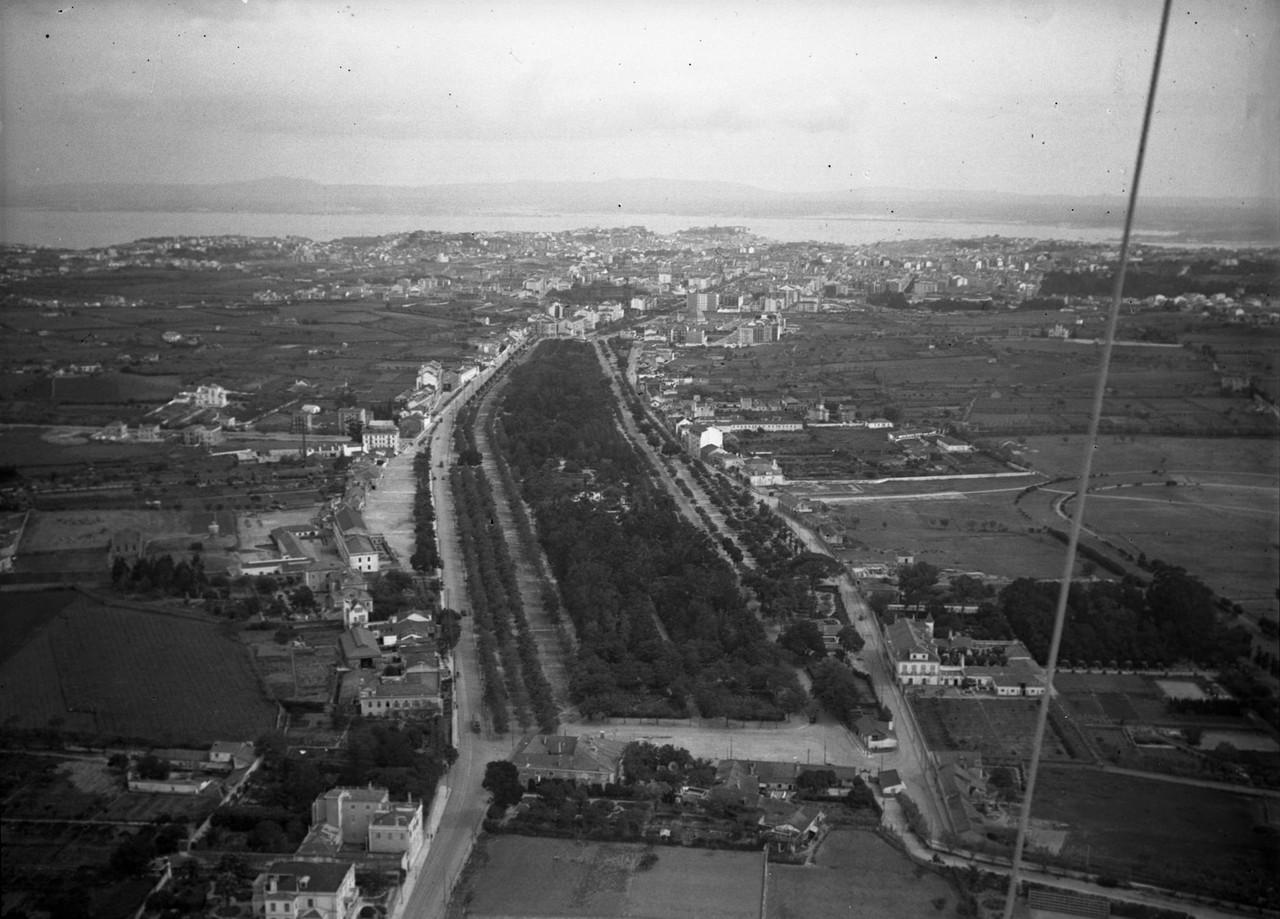 Fotografia aérea do Campo Grande, 1934, foto de P