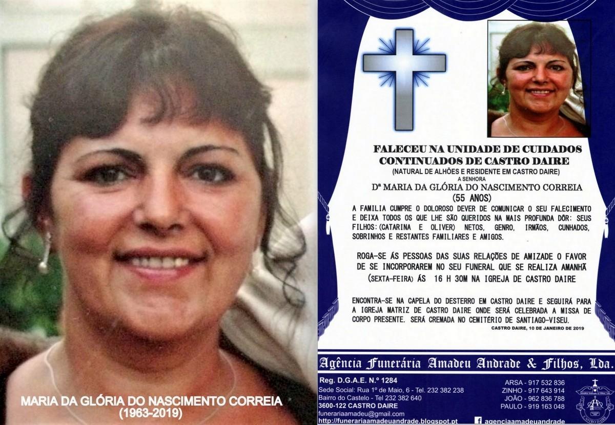 RIP FOTO DE MARIA DA GLÓRIA DO NASCIMENTO CORREIA