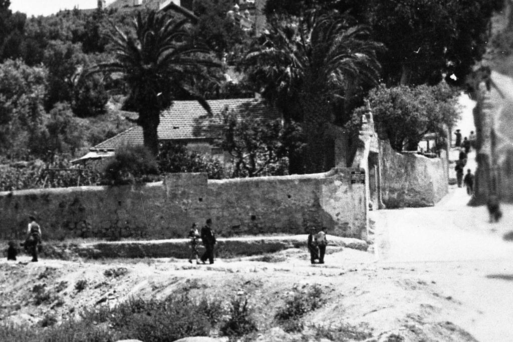 Azinhaga do Areeiro ao fundo da Calçada da Ladeira, Lisboa (E. Portugal, 1939)