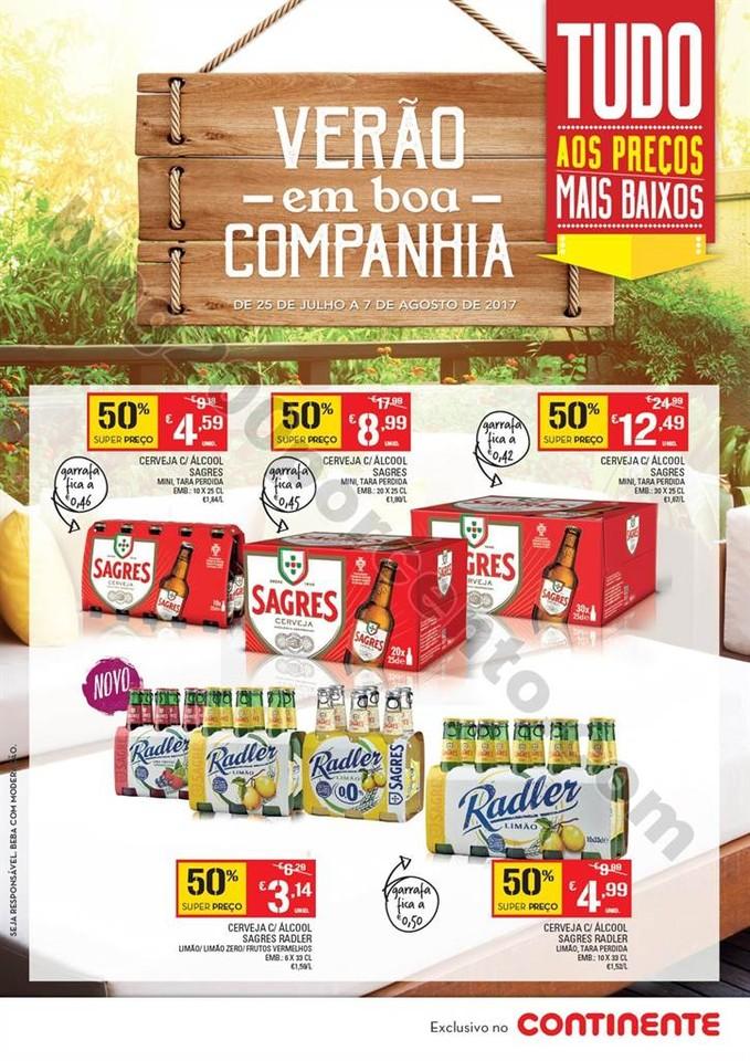 Novo Folheto CONTINENTE Cervejas promoções 25 ju