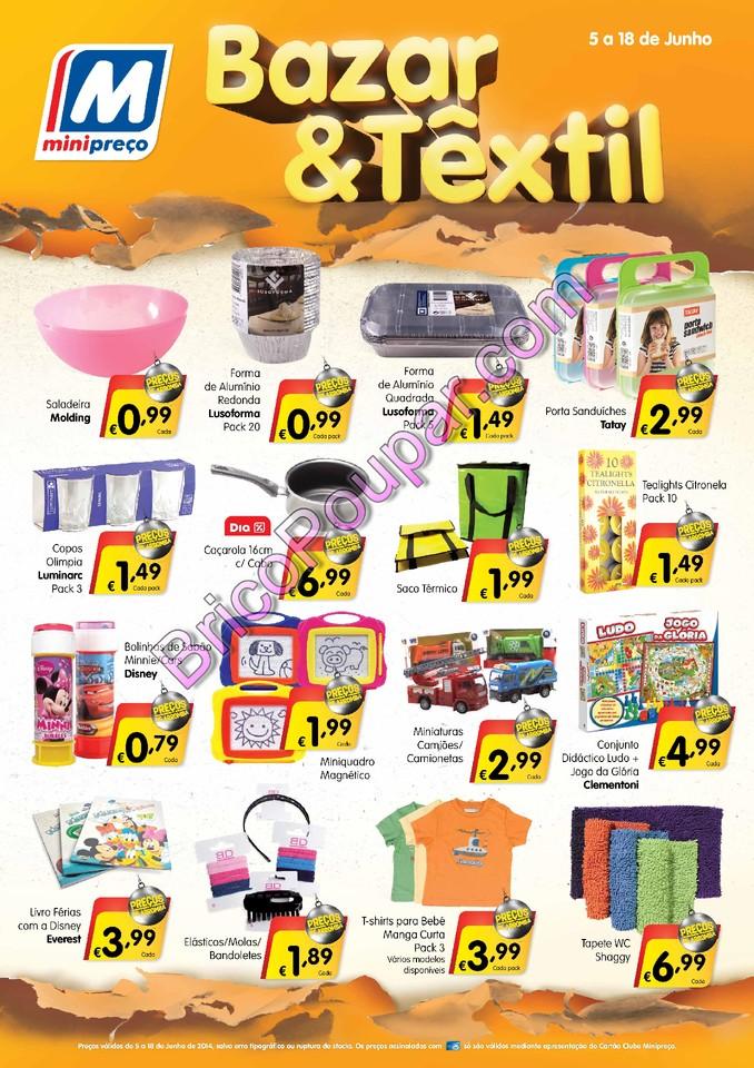 folheto minipreço bazar