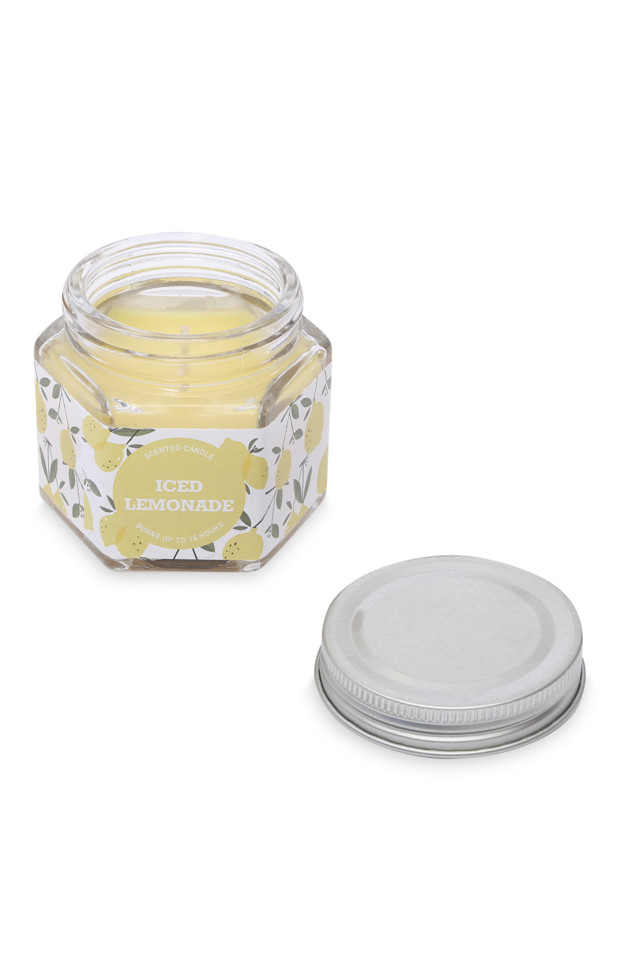 Kimball-1138110-LEMON Hexagonal Mini Jar, ROI J, F