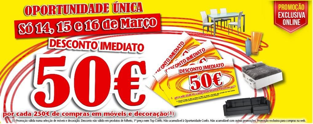 Oferta de 50€ | CONFORAMA | de 14 a 16 março