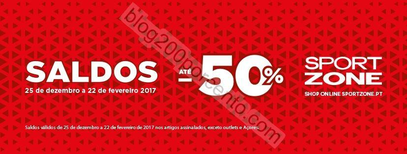 Até 50% desconto SPORT ZONE saldos de 25 dezembro