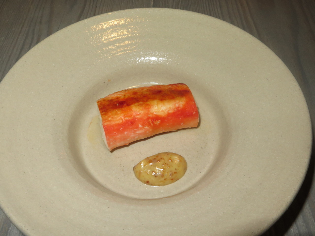 King crab and almost burnt cream