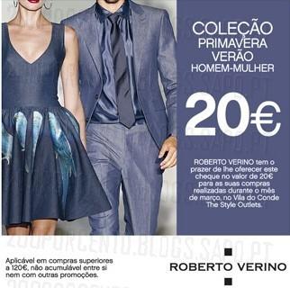 Cheque 20€ de desconto | THE STYLE OUTLETS | Roberto Verino