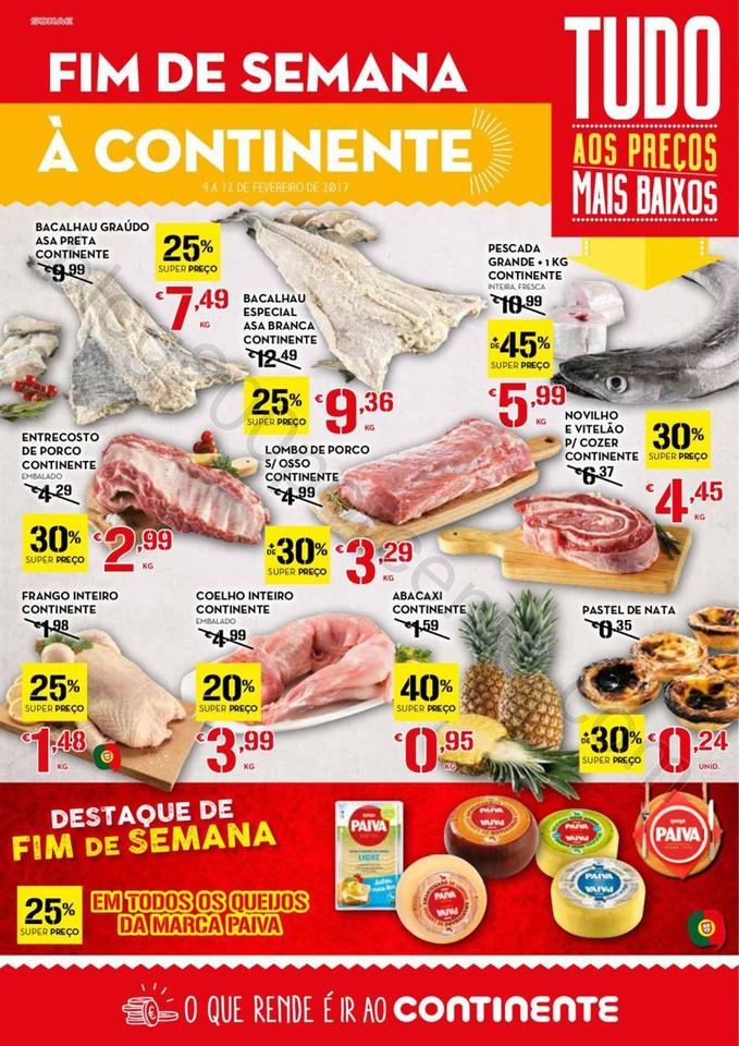 Antevisão Folheto CONTINENTE Fim de semana de 9 a