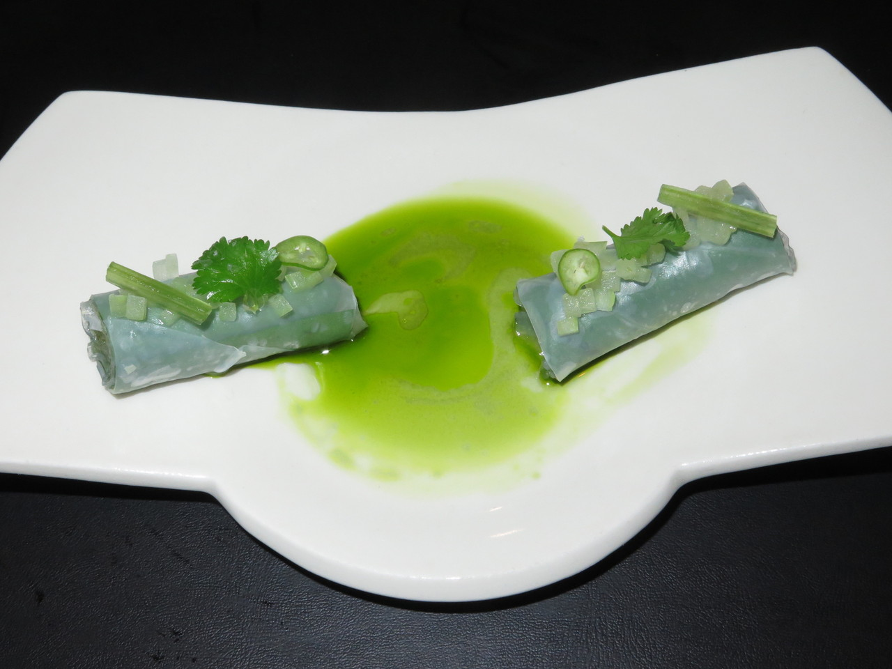Hoja santa leaf summer roll