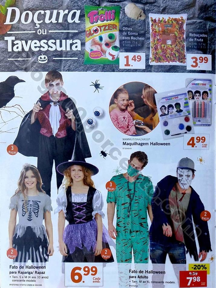 Especial Halloween LIDL Promoções a partir de 22