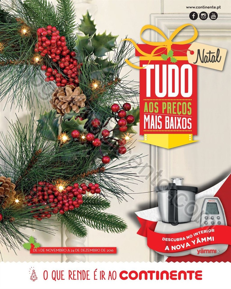 Antevisão Folheto CONTINENTE Catalogo Natal de 1