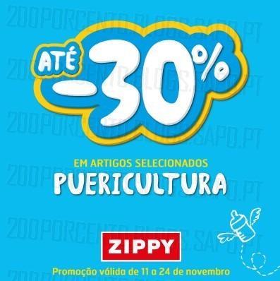 30% de desconto | ZIPPY | em Puericultura até 24 novembro