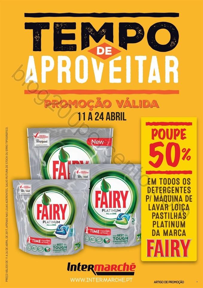 50% desconto fairy INTERMARCHÉ promoções de 11