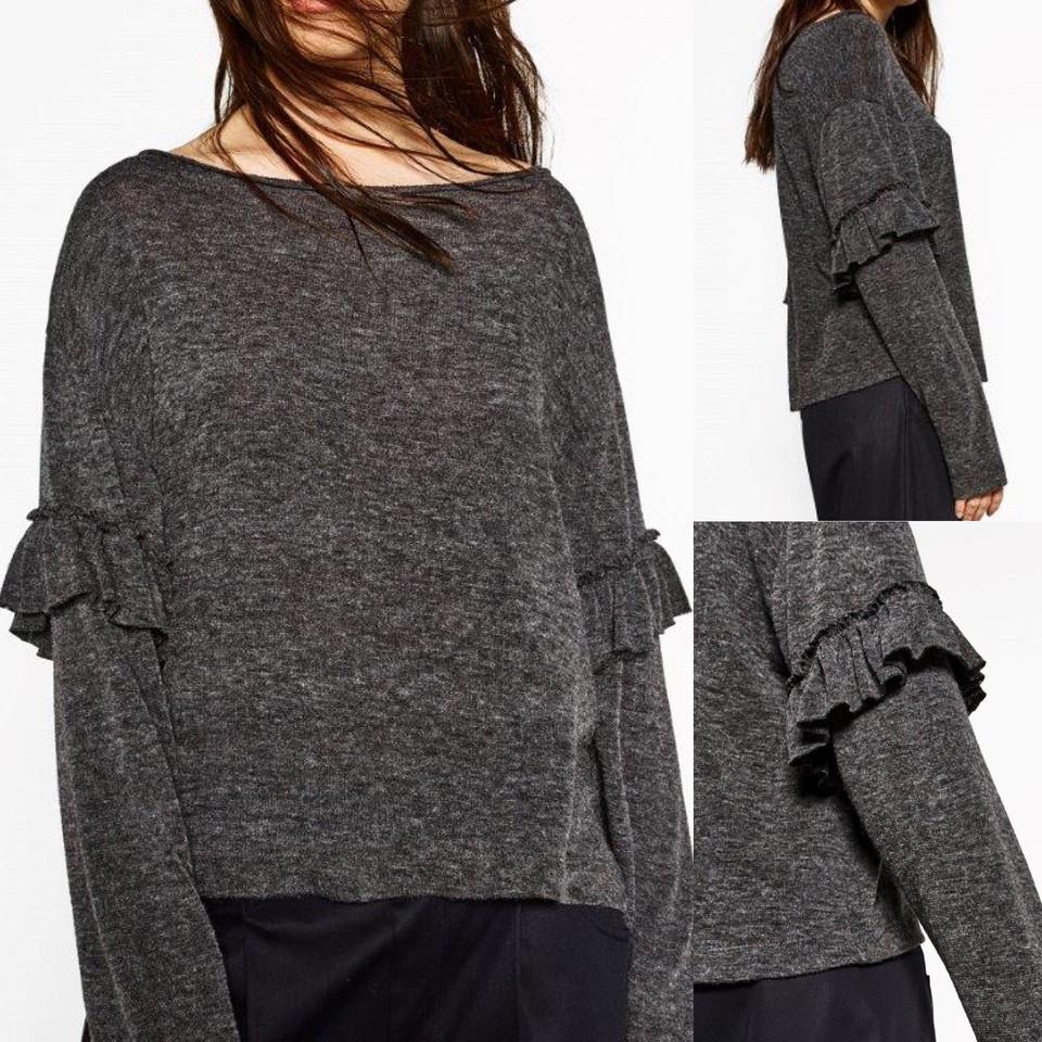 WEEKEND PLEASURE   camisolas de malha com folho