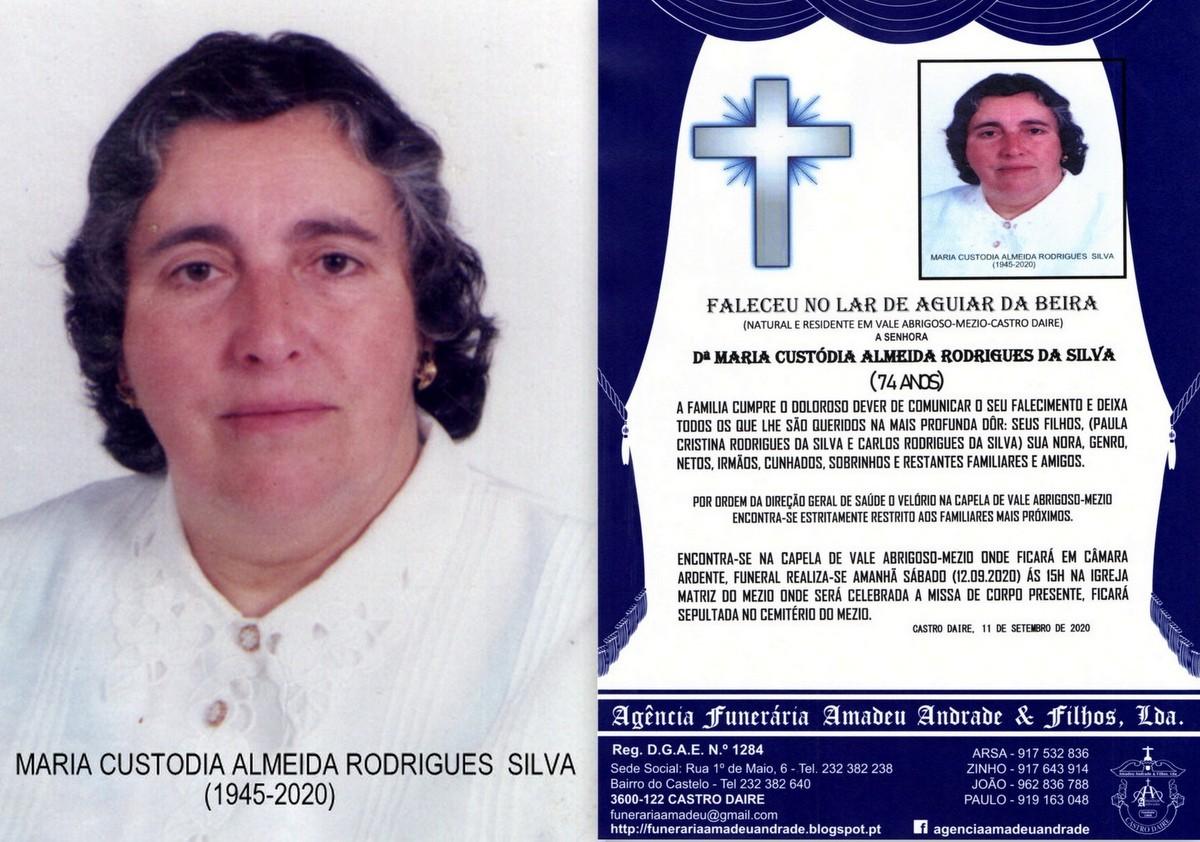 FOTO RIP DE MARIA CUSTODIA ALMEIDA RODRIGUES DA SI