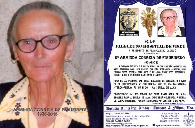 FOTO-RIP- DE ARMINDA CORREIA DE FIGUEIREDO-80 ANOS