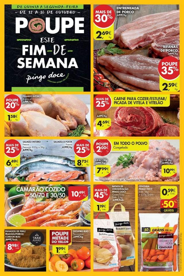 Folheto fim de Semana PINGO DOCE  12 a 16 outubro