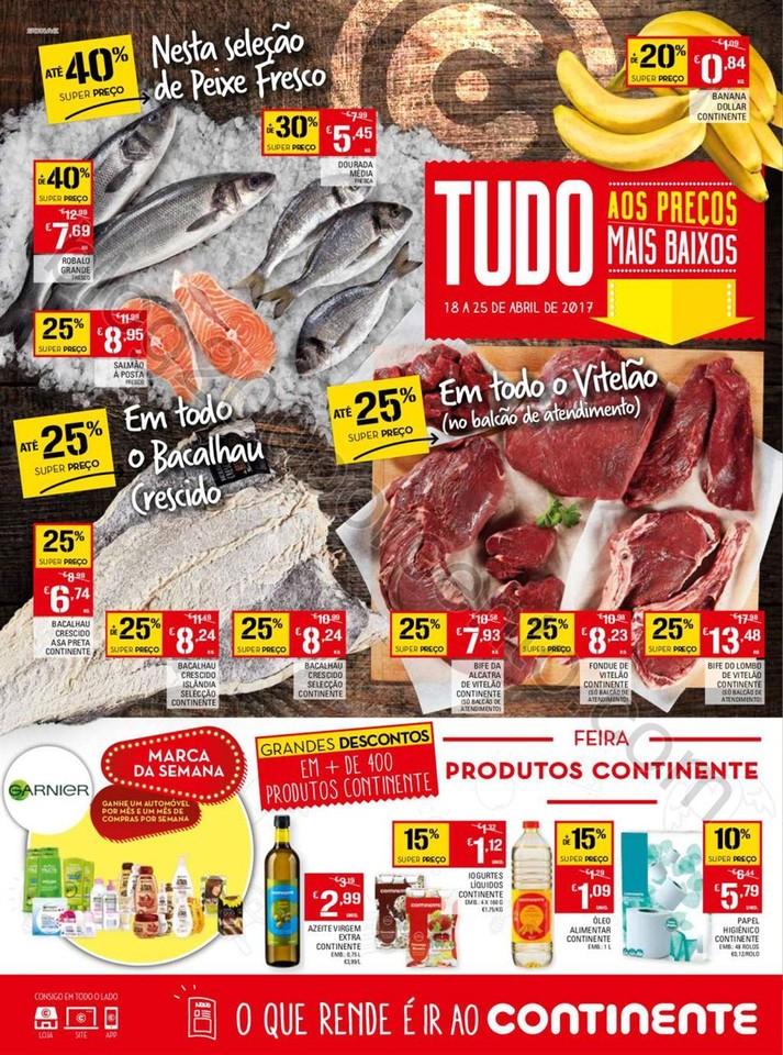 Antevisão Folheto CONTINENTE Promoções de 18 a