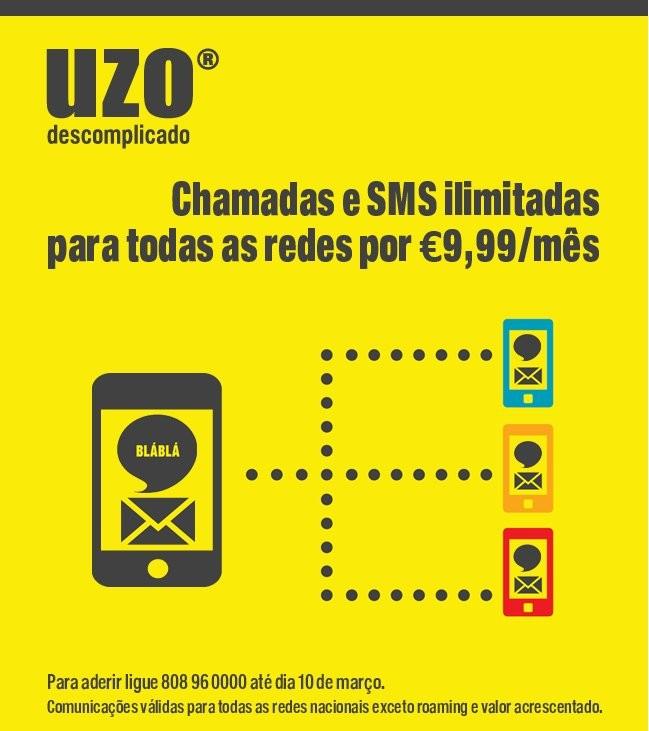 Novo Tarifário | UZO | 9,99€ mês para Todas as redes