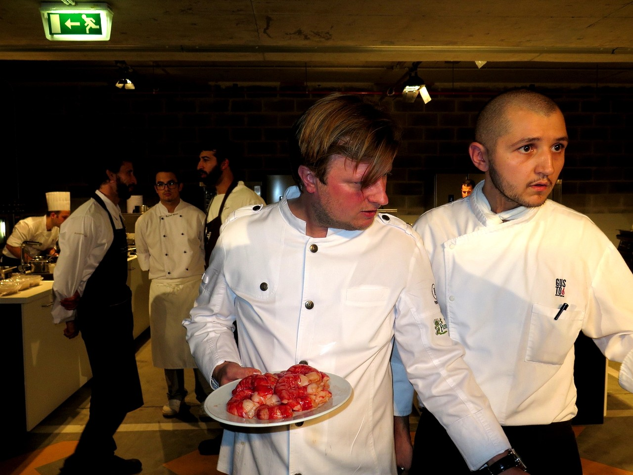 Kevin Fehling e Daniele Pirillo, chef residente do GUSTO by Heinz Beck