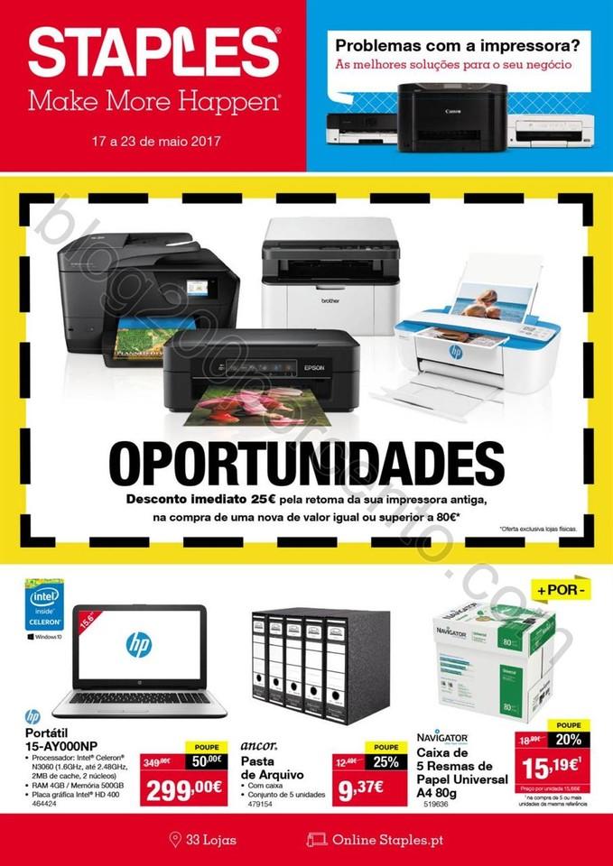Antevisão Folheto STAPLES Promoções de 17 a 23