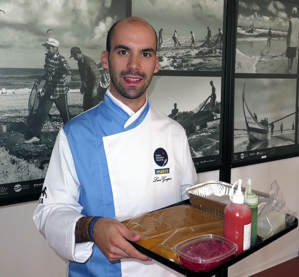 Luís Gaspar, Chefe Cozinheiro do Ano, momentos antes de subir ao palco do Vagos Sensation Gourmet