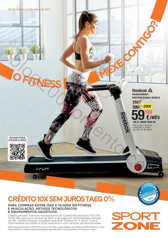 Antevisão Folheto SPORT ZONE Fitness de 30 março