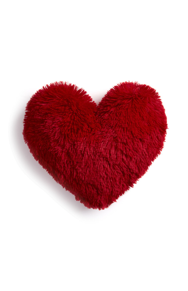 KIMBALL-MISSING-RED POM HEART CUSHION, GRADE MISSI
