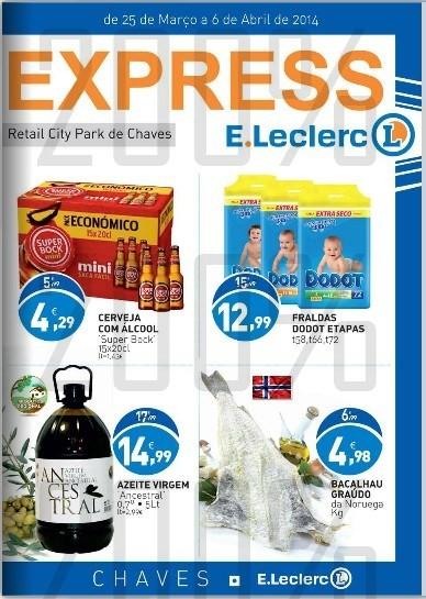 Antevisão Folheto | E-LECLERC | Express Chaves - de 25 março a 6 abril