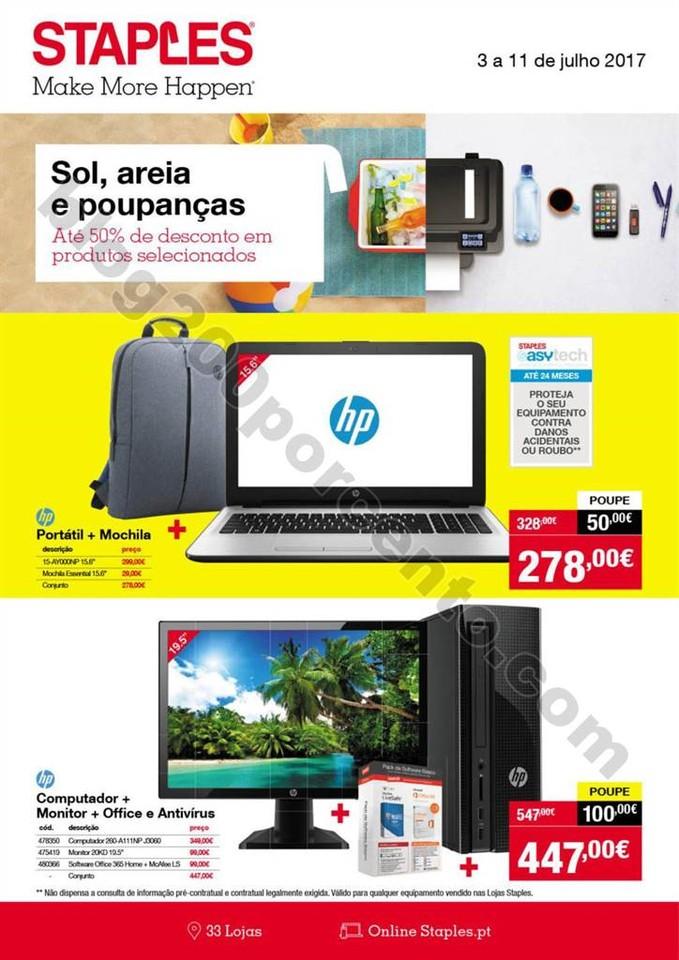 Antevisão Folheto STAPLES Promoções de 3 a 11 j