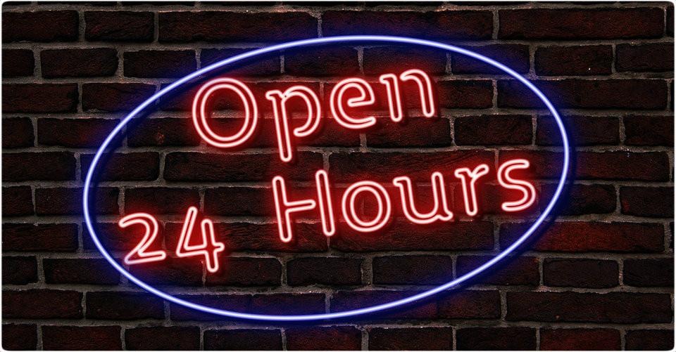 Hoje aberto 24 Horas| (imagem Pixabay)