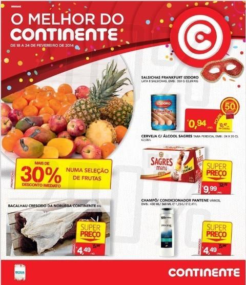 Novo Folheto | CONTINENTE | Carnaval de 18 fevereiro a 4 março