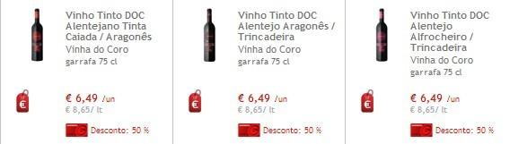 50% Vinhos Continente