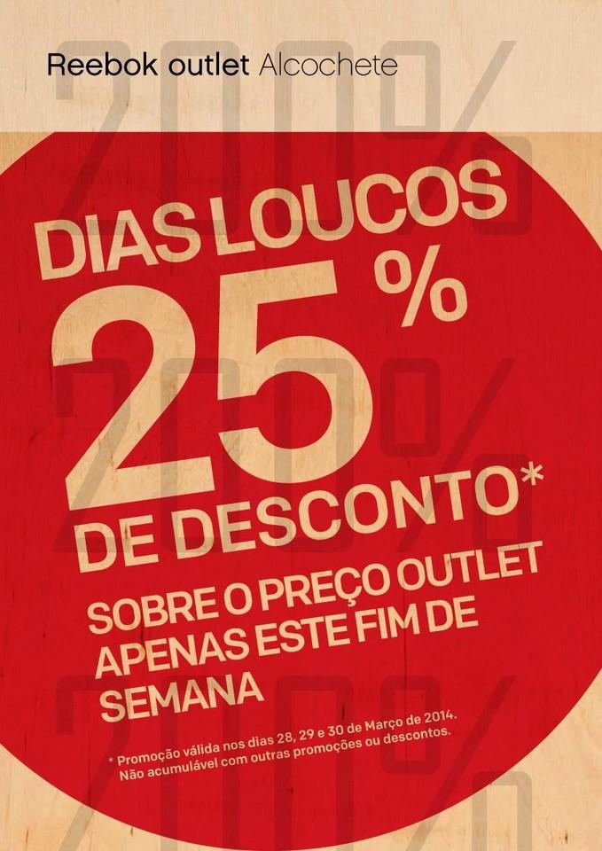 25% de desconto sobre Outlet | FREEPORT | Reebok