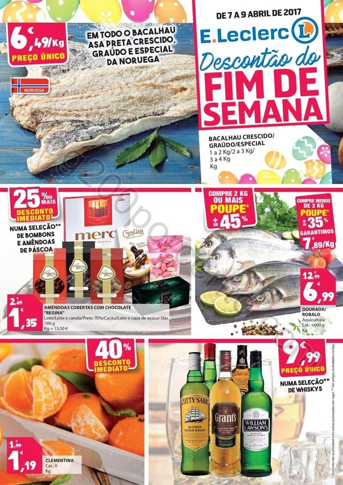 Antevisão Folheto E-LECLERC Fim de Semana 7 a 9 a
