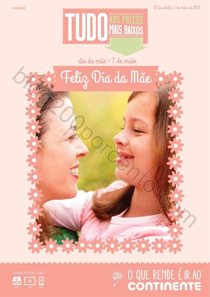 Antevisão Folheto CONTINENTE Dia da Mãe promoç