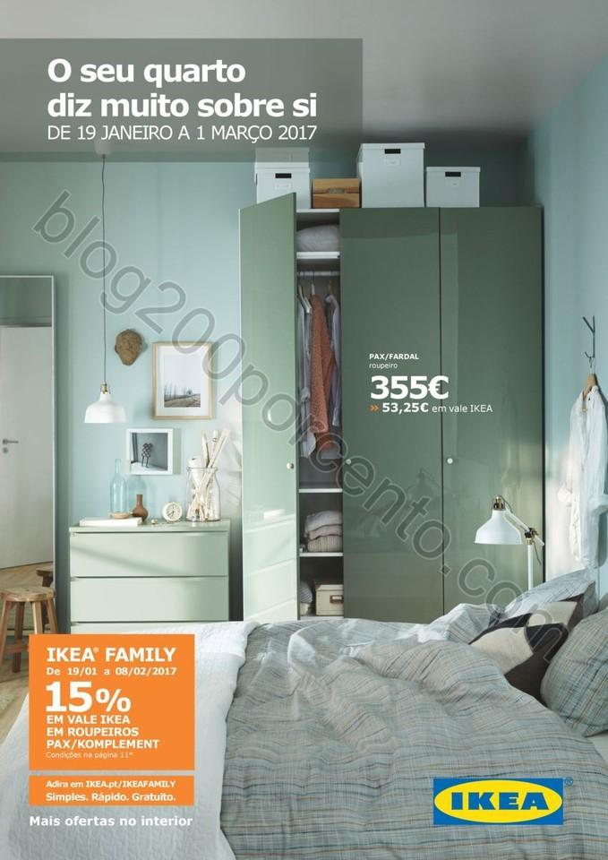 Antevisão Folheto IKEA Quartos promoções de 19