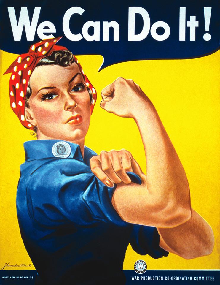 """© J. Howard Miller, 1943, """"We Can DoIt!"""""""
