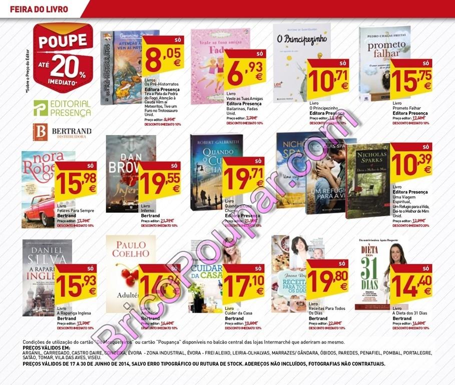 Antevisão Novo Folheto Intermarché - Especial Feira do Livro - de 17 a 30 de junho