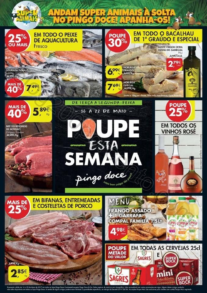 Antevisão Folheto PINGO DOCE Promoções de 16 a