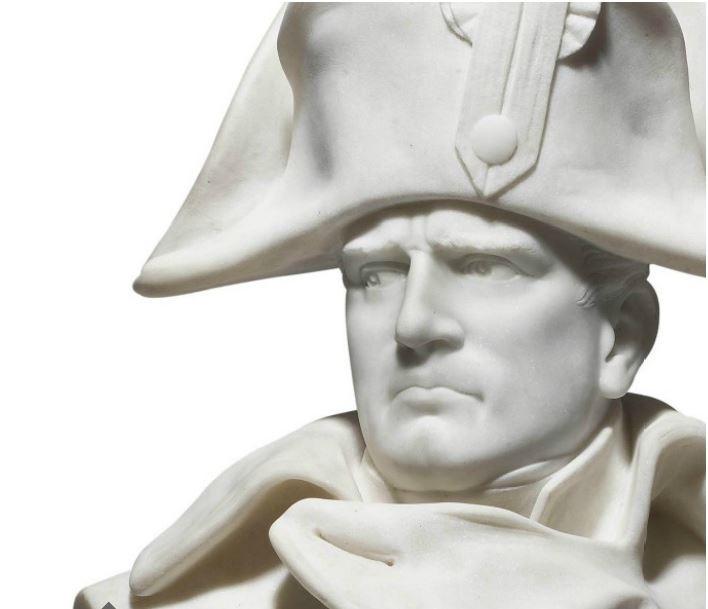 Napoleão. Busto de mármore (Lourenço Colombo, séc. XIX, in Christies)