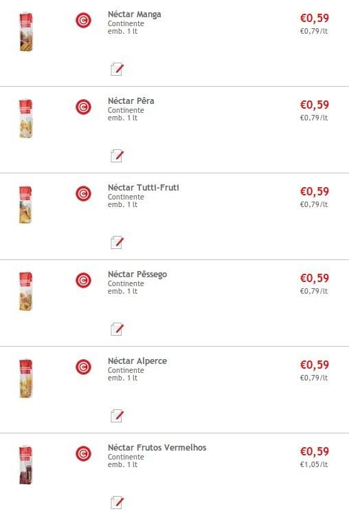 Super Preço | CONTINENTE | Nectar Continente 1 lt a 0,59€