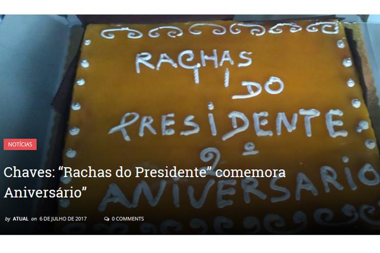 Rachas do Presidente aniversário diario atual 070