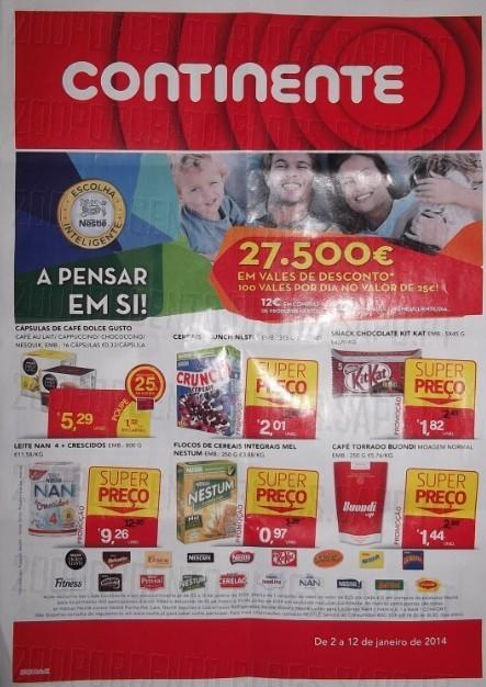 Novo Folheto | CONTINENTE | de 2 a 12 janeiro - Nestlé