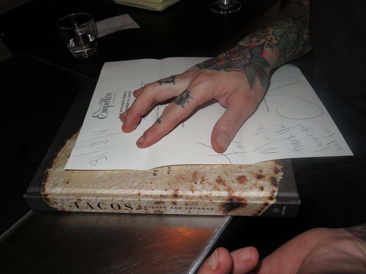 O menu e o livro