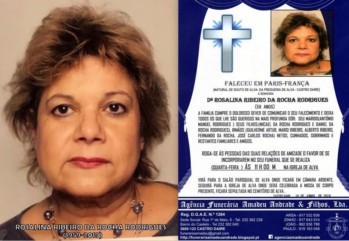 FOTO RIP DE ROSALINA RIBEIRO DA ROCHA RODRIGUES-AL