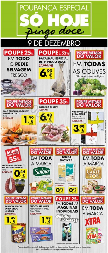 Antevisão Promoções PINGO DOCE Extra Só hoje -