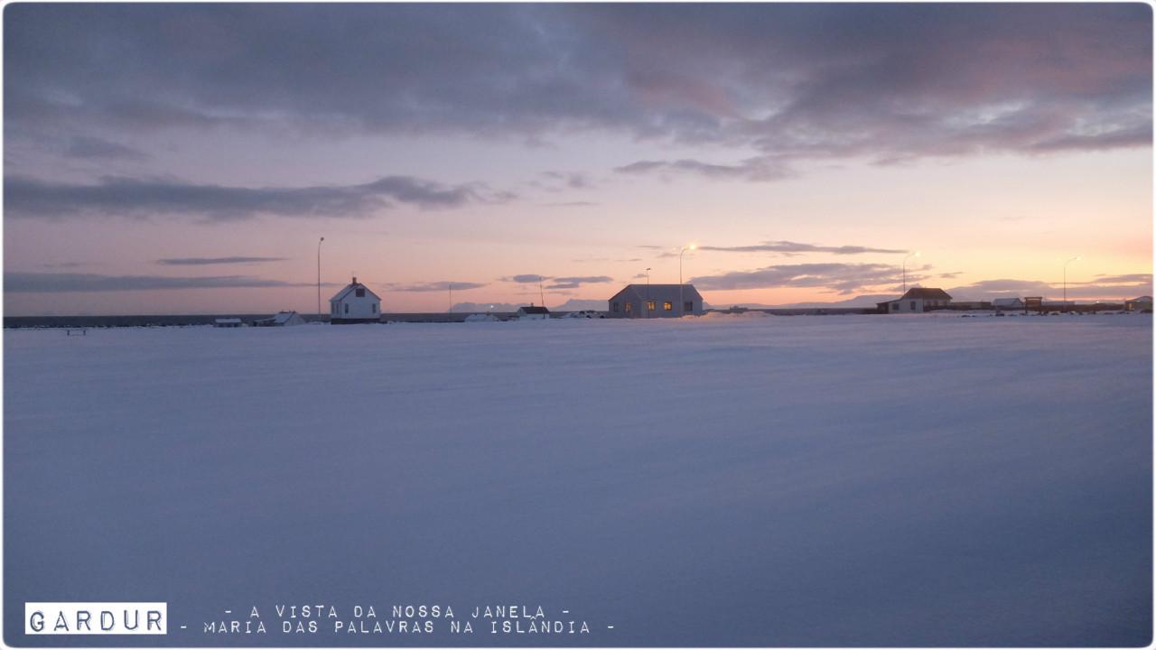 Maria das Palavras na Islândia - A vista da nossa