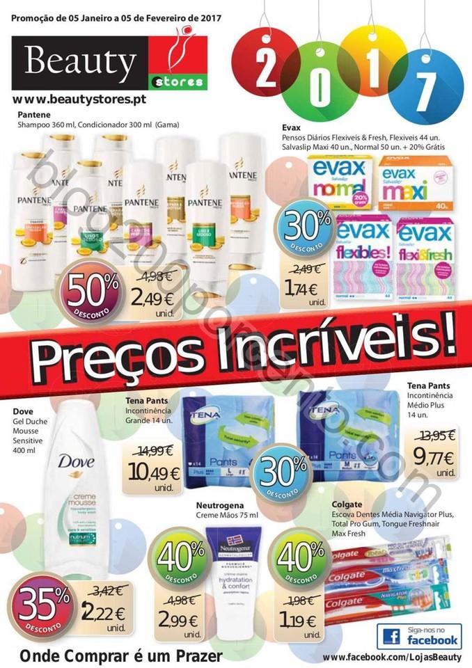 Novo Folheto BEAUTY STORES Promoções de 5 janeir