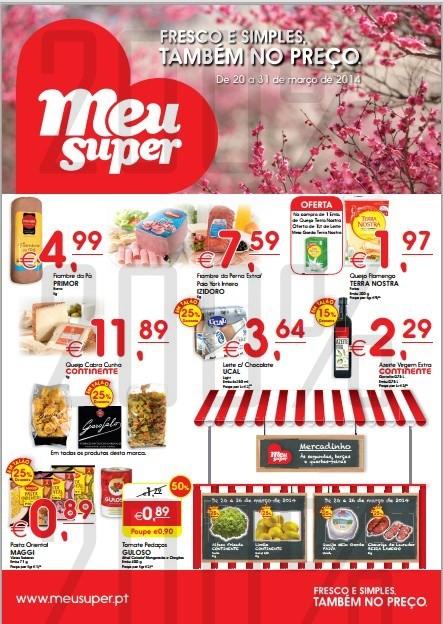 Antevisão folheto | MEU SUPER | de 20 a 31 março