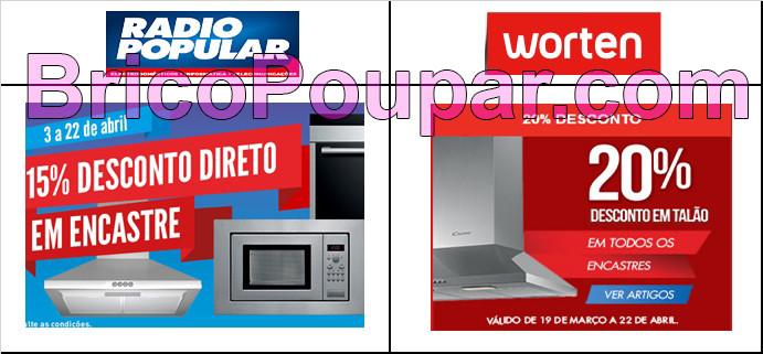 rádio popular e worten promoçoes encastres comparação de preços